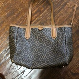 Fossil zippered tote bag.